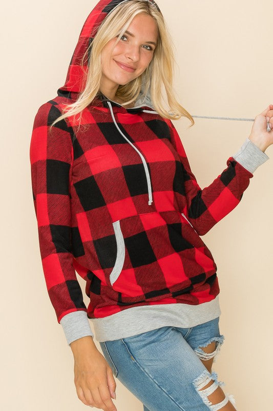 Buffalo Checkered Hooded Pullover