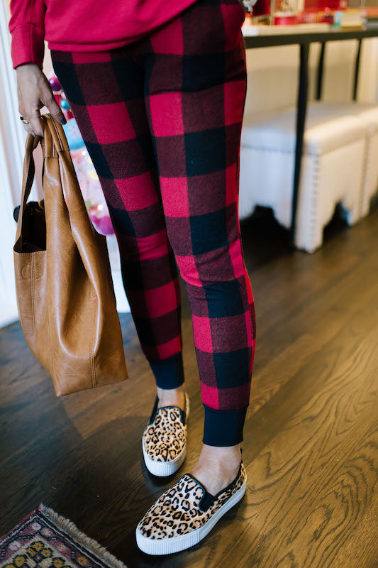 Buffalo Checkered Joggers Black Cuff (2 Colors)