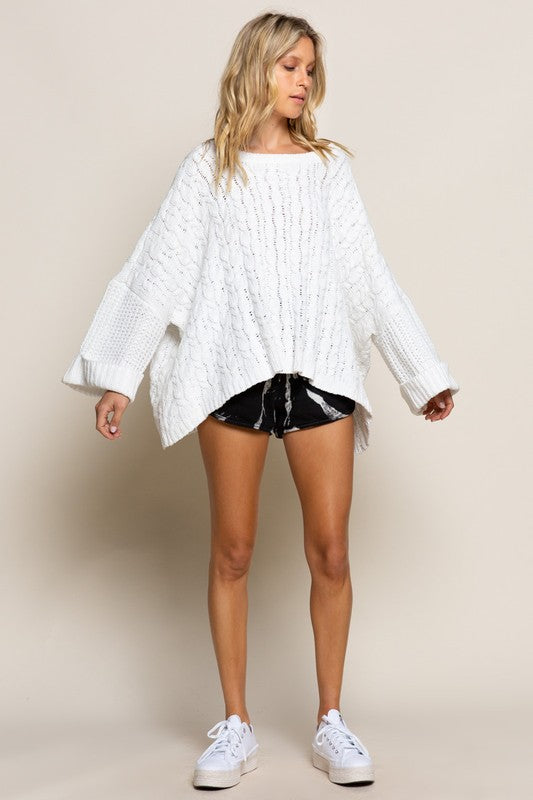 In the Clouds Cable Knit Sweater