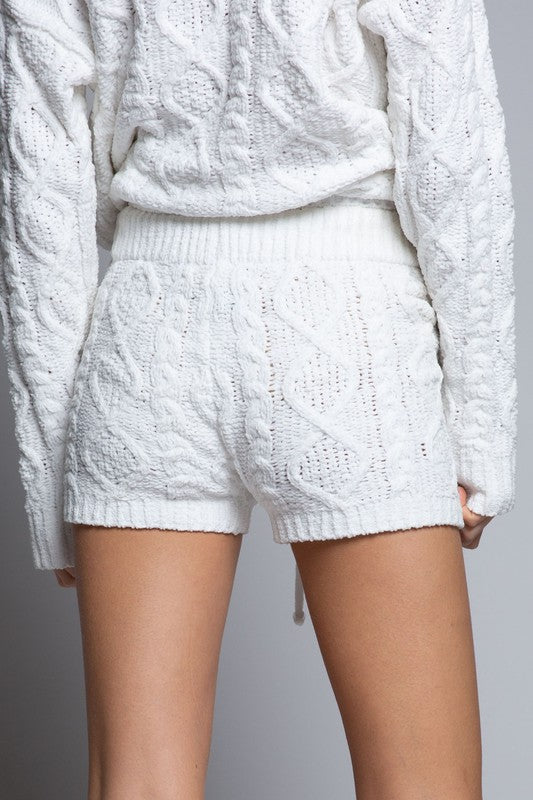Soft and Cozy Cable Knit Short (2 Colors)