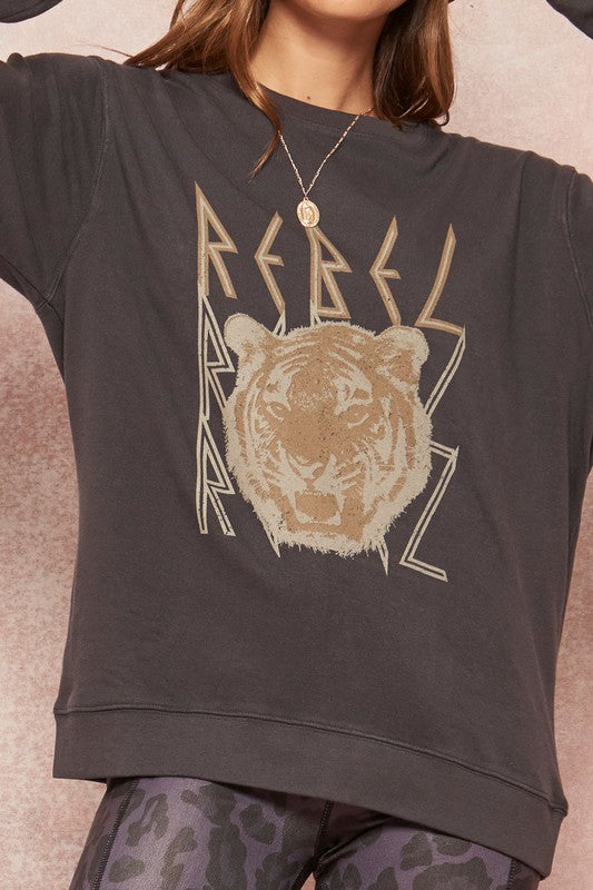 Rebel Tiger Vintage Graphic Sweatshirt