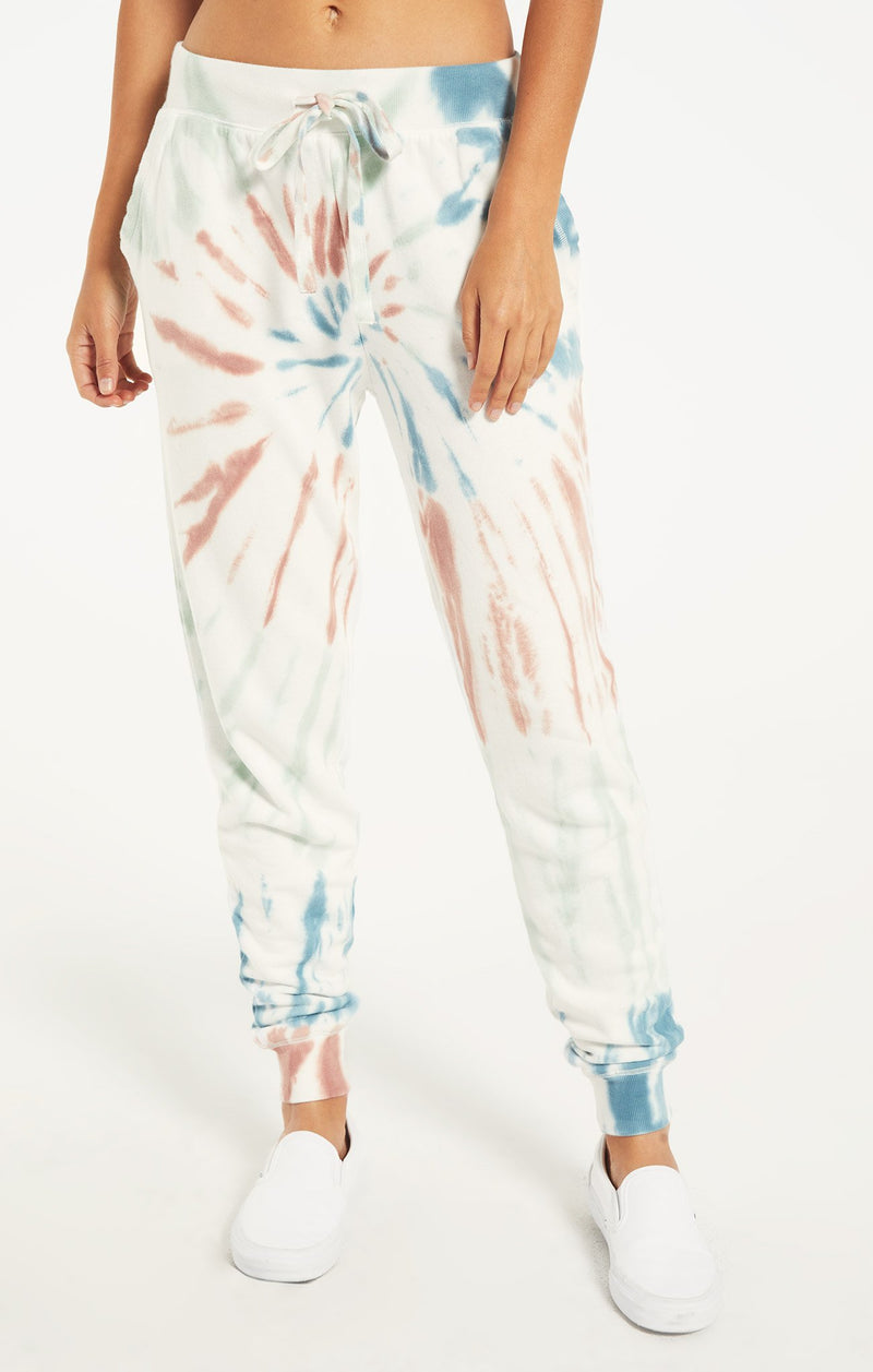 Multicolor Tie-Dye Jogger -Z Supply (2 Colors)