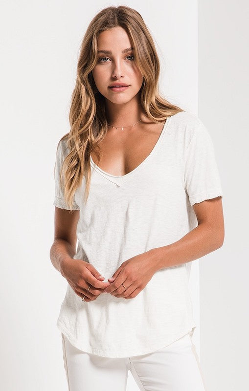 cotton-slub-v-neck-tee