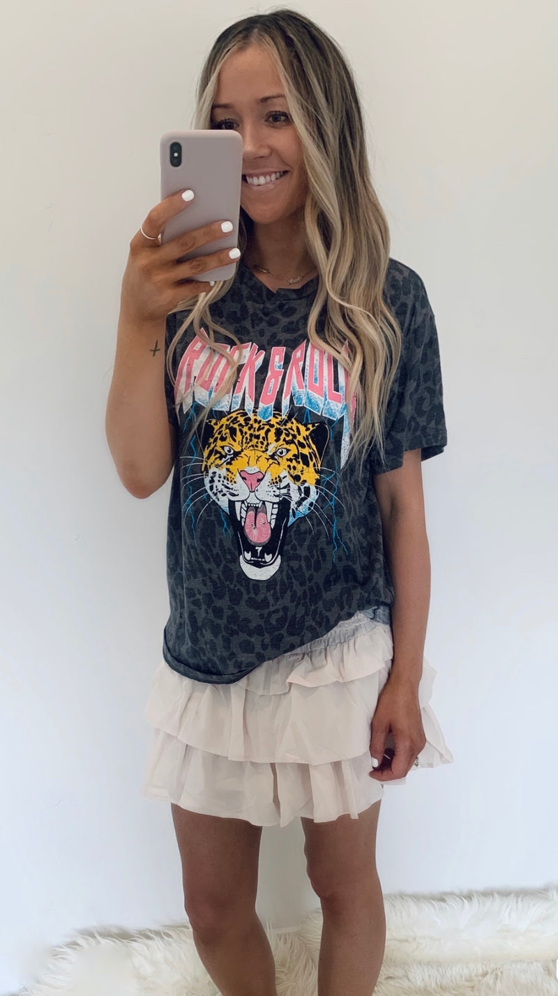 Leopard Rock N Roll Tee (2 Colors)