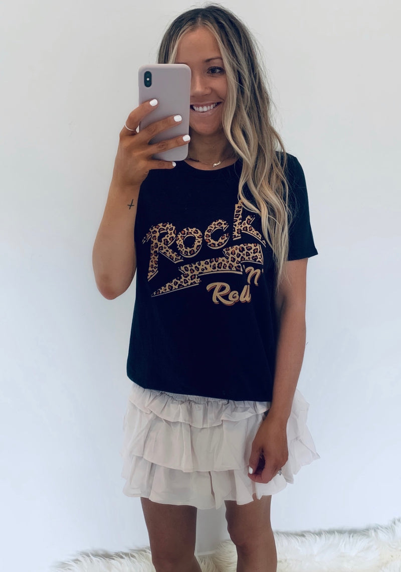 Rock N Roll Leopard Lightning Tee