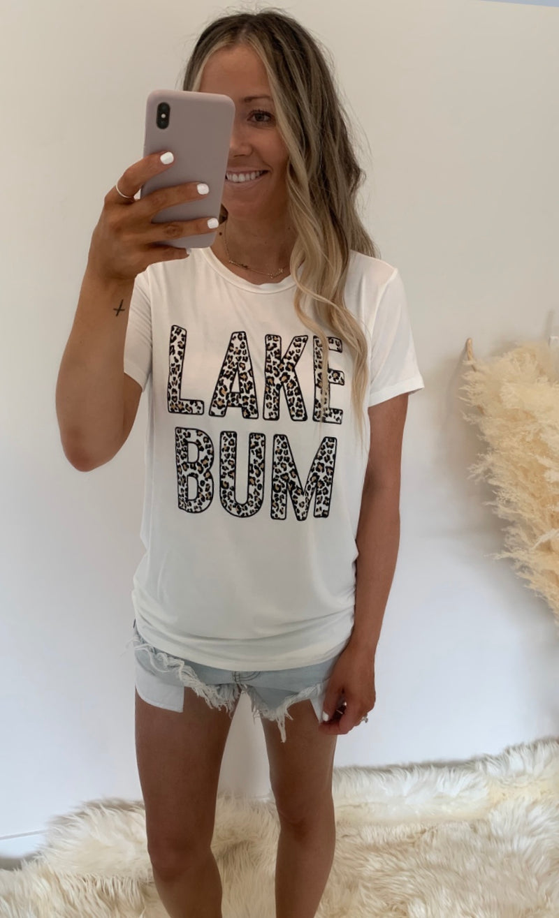 Leopard Lake Bum Tee