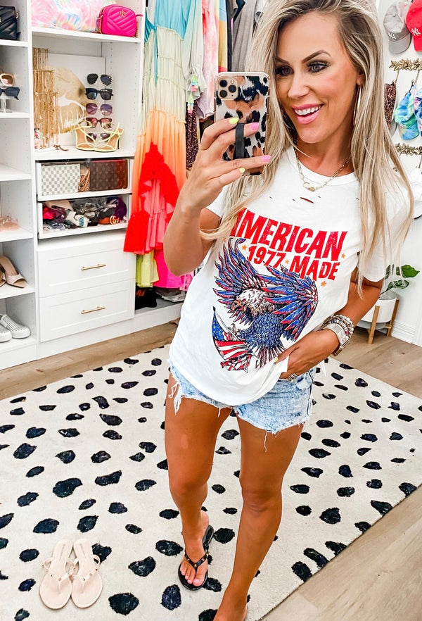 American Made Distressed Tee