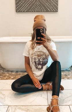 Tiger Distressed Tee (2 Colors)