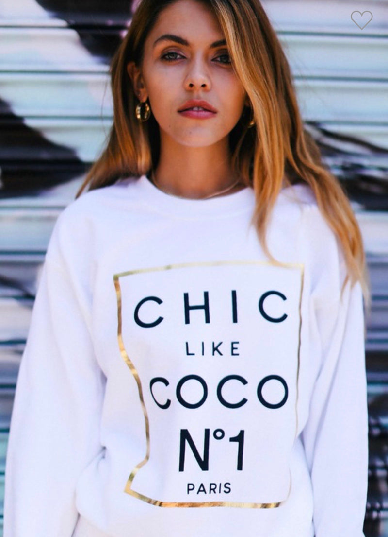 Chic Like Coco Sweatshirt (2 Colors)