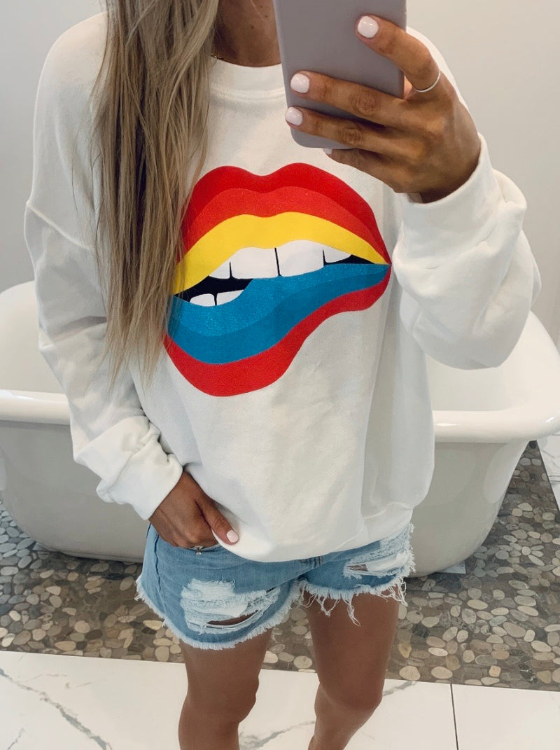 Rainbow Kisses Sweatshirt