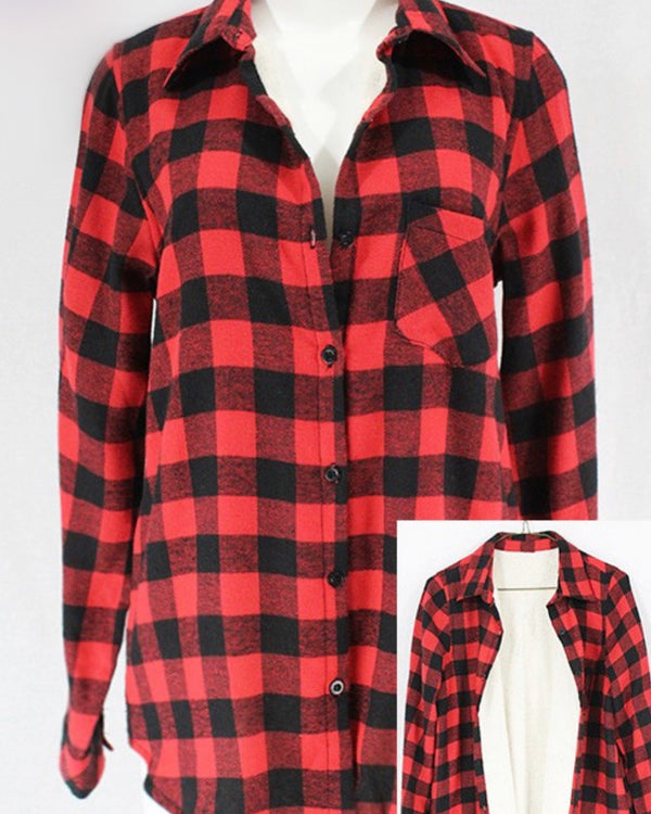 Sherpa Lined Flannel Jacket (2 Colors)