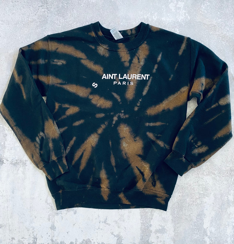 Ain't Laurent Black Splash Sweatshirt