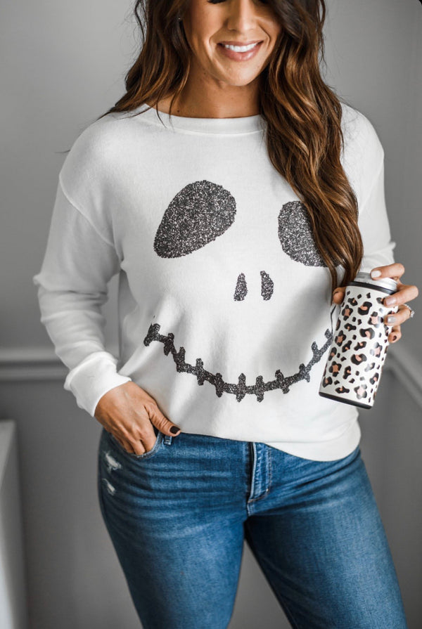 Skelly Smile Pullover