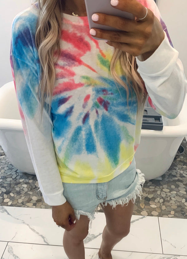 Color Bomb Spiral Tie Dye Pullover