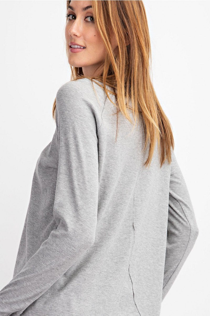 Ribbed Knit Thumbhole Tunic (3 Colors)