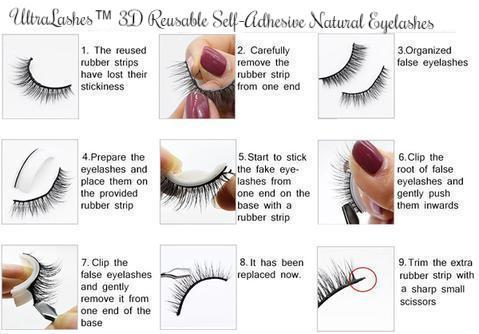 UltraLashes™ 3D Reusable Self-Adhesive Natural Eyelashes