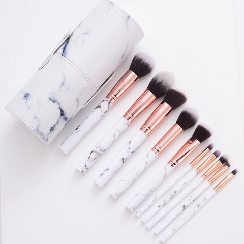 marble_makeup_brush_set