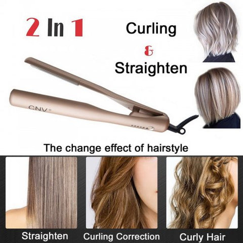 2 in 1 Twist Curling & Straightening Iron