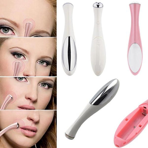 Acupuncture Mini Massager  FACIAL massager anti wrinkle anti bag pouch