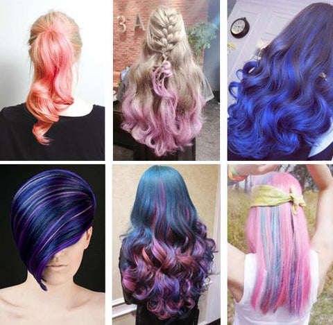 Fast Hair Dye Coloring Set ( 6 Colors )