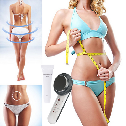 Ultrasonic Anti Cellulite Body Slimming Massager + Free Conducting Gel