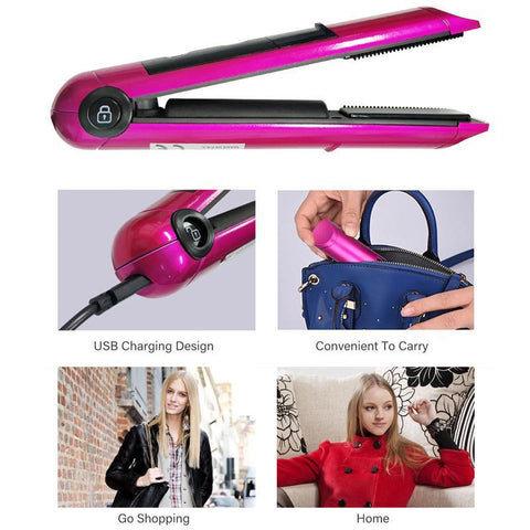 Smart Wireless Hair Straightener cordless professional