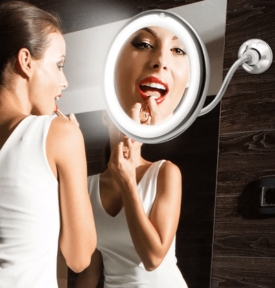 Beauty Tools 10X Magnifying LED Lighted Flexible Mirror