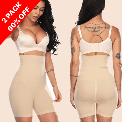 Body Shaper High Waist Pants Beige (2 Pack) / S Body Shaper High Waist Pants