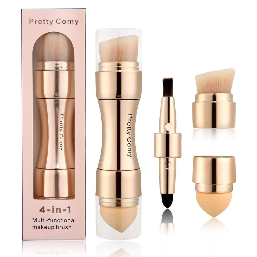 All in One Makeup Brush- 4 in1 Portable Makeup Brushes