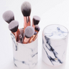 Marble Makeup Brush Set (10 pcs) with Holder