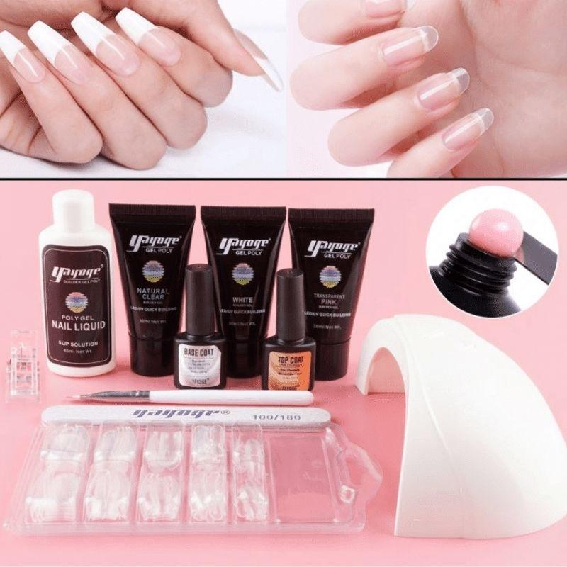 Polygel Complete Set with LED Lamp-3 Colors