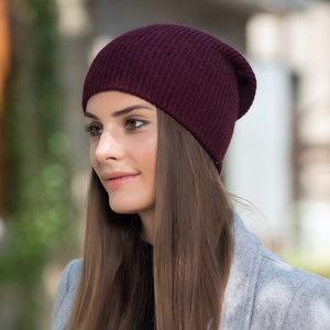 Cashmere Beanies Ladise Knitted Wool