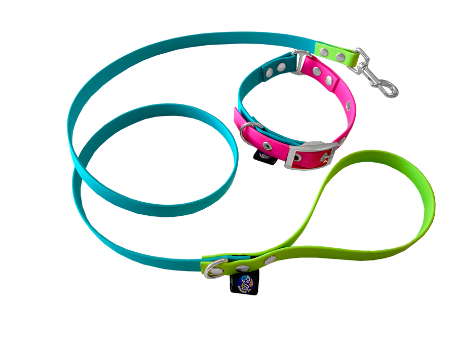 Tail Set Duo -  Bubblegum / Collar y Correa