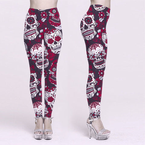 Skull Printing Yoga Pants -  Gym Shirts Online