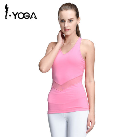 Sleeveless Yoga Vest Top Fitness Yoga -  Gym Shirts Online