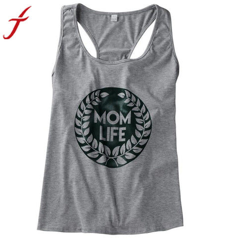 """Mom Life"" Tank Top* -  Gym Shirts Online"