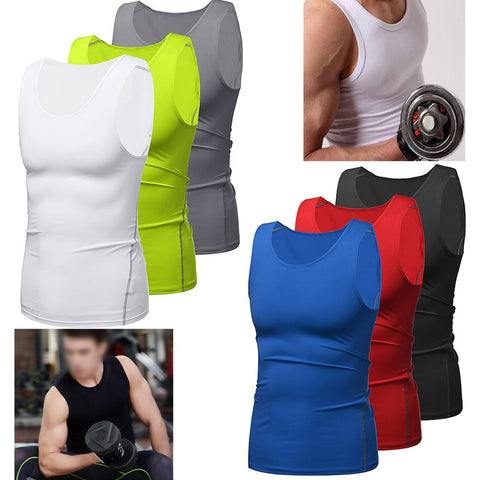 Tank Top Fitted Compression Shirt -  Gym Shirts Online