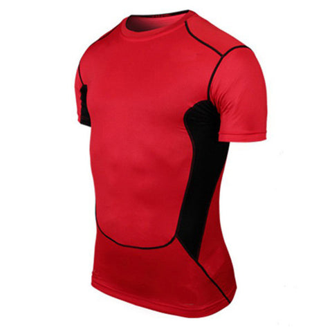 Compression Short Sleeve T-Shirt Dual Color -  Gym Shirts Online