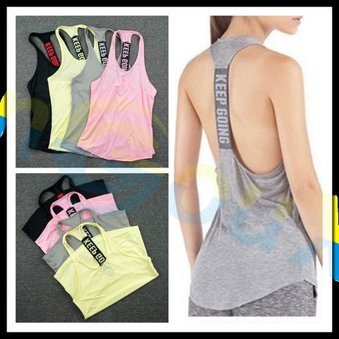 Sleeveless Tank Tops Workout Yoga -  Gym Shirts Online