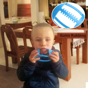 BBBiteMe Baby Teething Toys - BPA Free Silicone Football Organic Teether for Toddler Chew to Molar