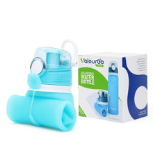 Load image into Gallery viewer, Valourgo Collapsible Water Bottle, Silicone Foldable with Leak Proof Valve BPA Free, 21 oz