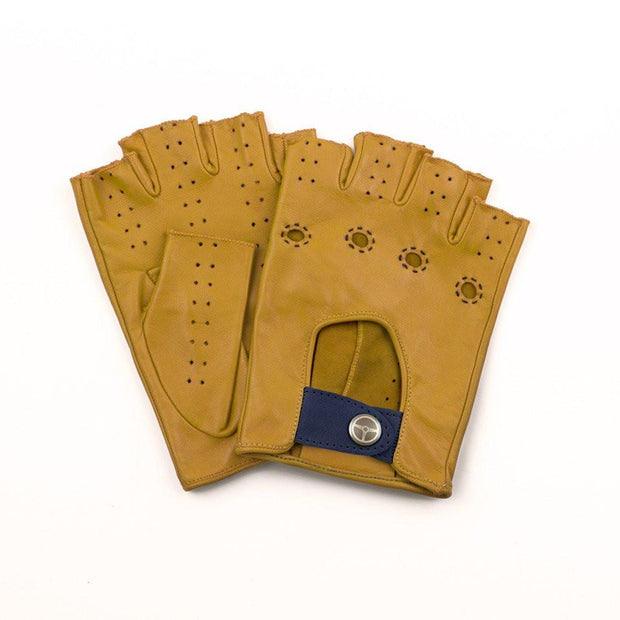 The Outlierman Gloves - Ladies The Authentic Race Fingerless - Mustard / Blue Royal