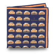 The Outlierman Pocket Square - The Vintage Race - Blue / Orange