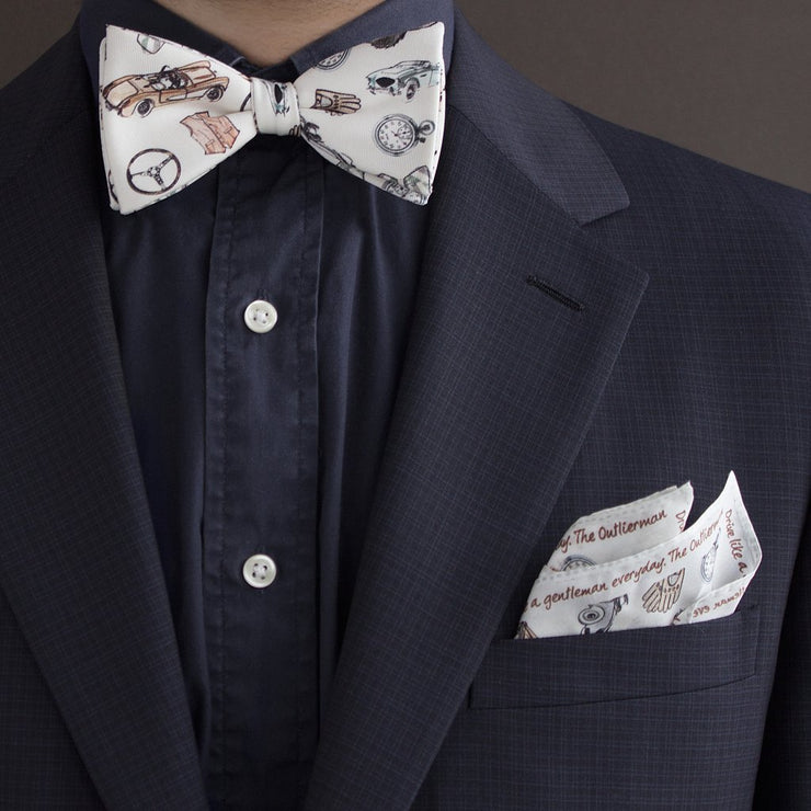 The Outlierman Bow Tie - The Gentleman Driver - Ivory