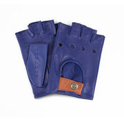 The Outlierman Gloves - The Authentic Race Cut-off - Royal Blue / Brown
