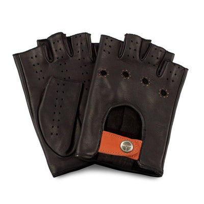The Outlierman Gloves - The Authentic Race Fingerless - Black / Orange