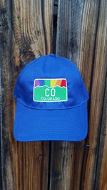 CO Pride Rainbow Sunset Embroidered Baseball Cap
