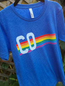 Retro Heather True Royal T-Shirt Colorado Retro Pride