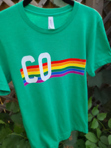 Retro Heather Kelly T-Shirt - Colorado Retro Pride