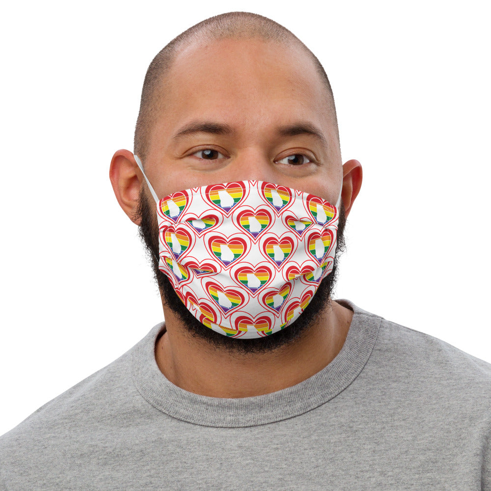 Georgia Retro Pride Heart - Premium face mask